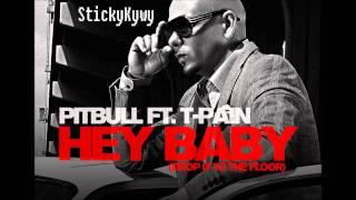 Pitbull ft. T-Pain | Hey Baby (drop it to the floor) with Lyrics