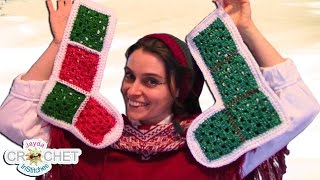 vuclip Vintage Granny Square Christmas Stocking - Crochet Pattern