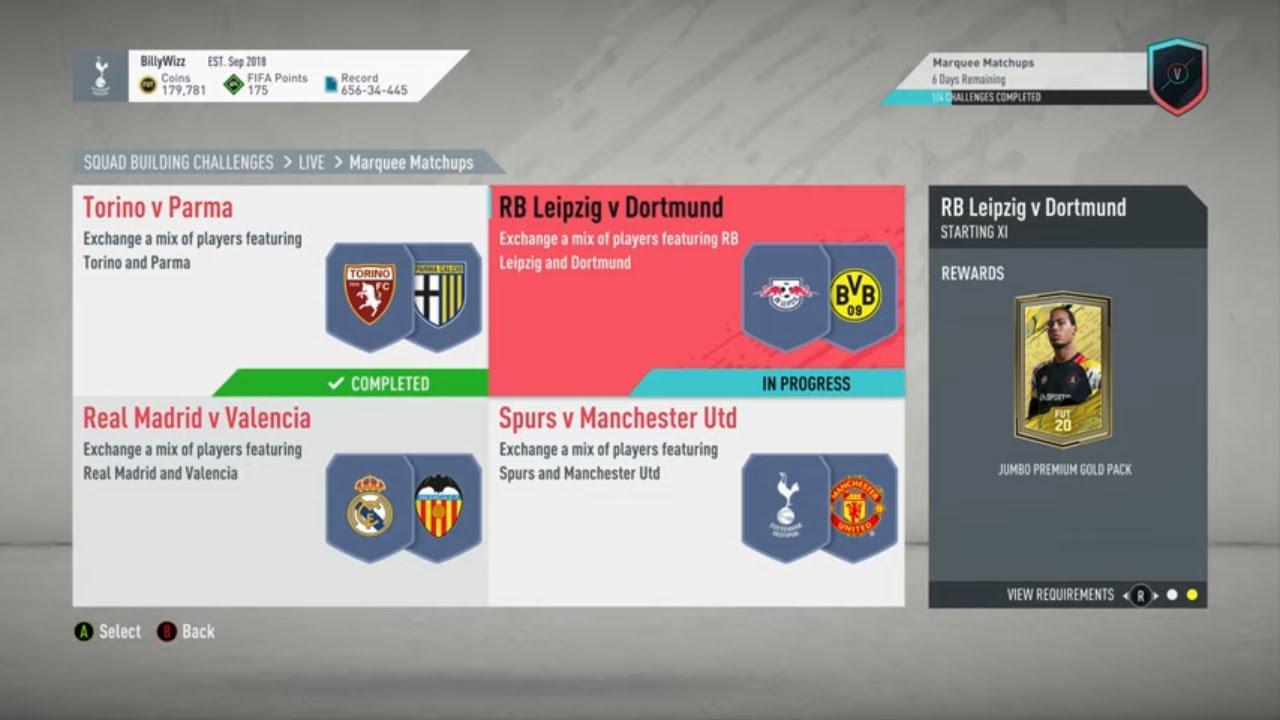Fut 20 Sbc Rb Leipzig V Dortmund Marquee Matchups Cheap No Loyalty Youtube