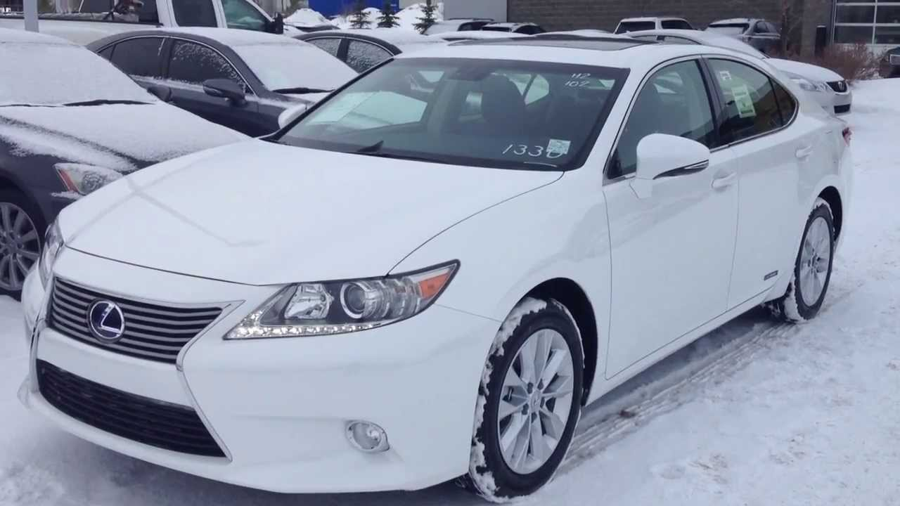 2014 lexus es 300h hybrid in white navigation package. Black Bedroom Furniture Sets. Home Design Ideas
