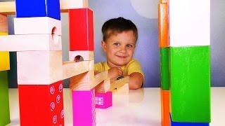 ★ МАРБЛС Любимый КОНСТРУКТОР Ромы Marble Race Slide Marble Run Unboxing Toys Review Развивающие Игры