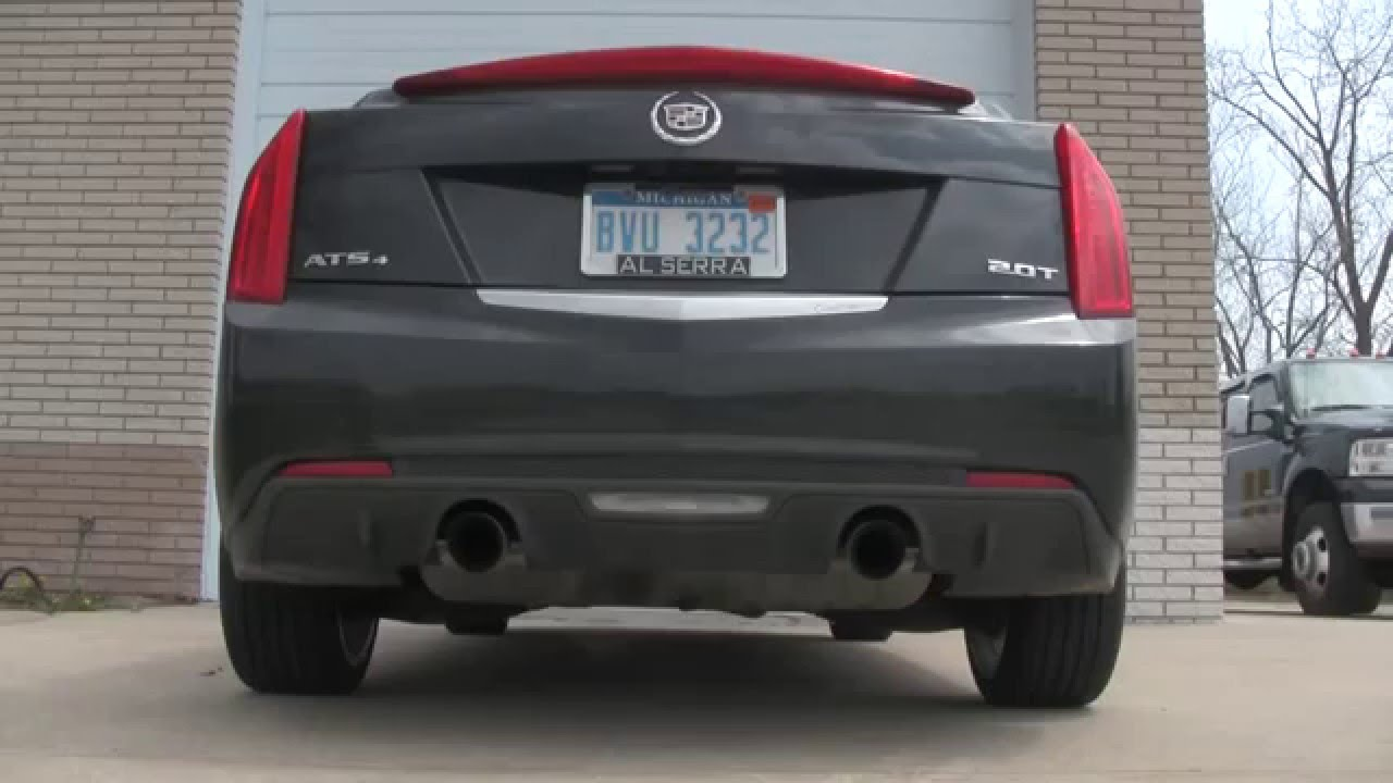 2014 cadillac ats 2 0l turbo stock exhaust youtube. Black Bedroom Furniture Sets. Home Design Ideas