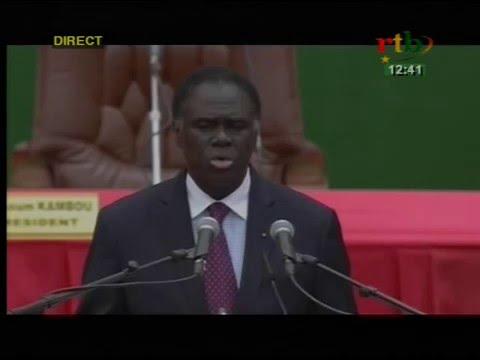 rtb / discours de Michel KAFANDO à l'investiture du président Roch Marc Christian KABORE