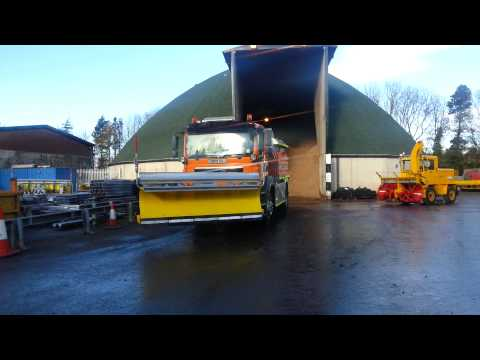 Transport gritters in action at Carrville depot