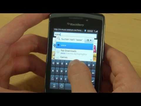 BlackBerry Torch 9800 Test Internet
