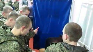Обучение солдат голосованию на КЭГ