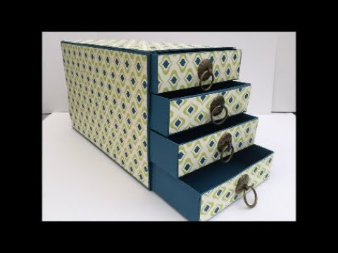 Re-enforced  Stampin Up Chest of Drawers Gift Box or Filing Box Gorgeous and Easy to Make