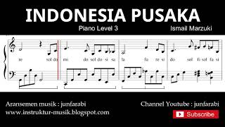 indonesia pusaka not balok piano level 3 - lagu wajib nasional