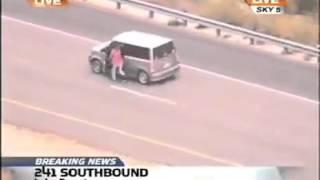 Женщина уходит от погони