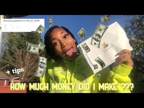 MY FIRST YOUTUBE PAYCHECK! | how much did I make ? + tips for small youtubers