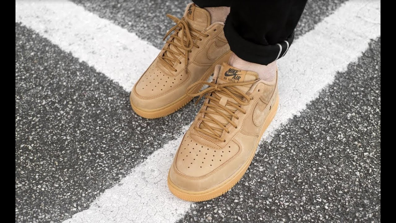 NIKE AIR FORCE 1  07 FLAX WHEAT - AA4061 200 - MATE - YouTube 76715a3e4