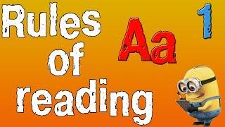 Английский для начинающих. Правила чтения в английском языке. Буква A. (часть 1)