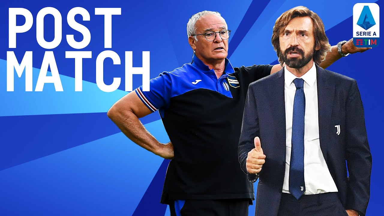 Juventus 3-0 Sampdoria   Pirlo and Ranieri Post Match Press Conference   Serie A TIM