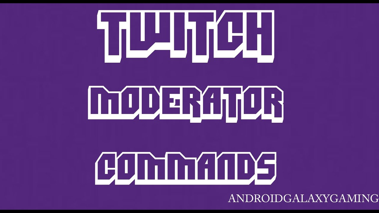 Twitch Moderator Chat Commands: Slow Mode, Clear Chat, Subscriber Chat Only