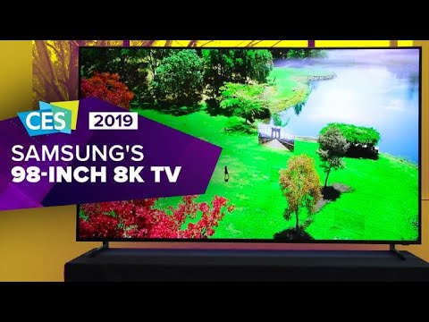 Samsung goes all-out with 98-inch, 8K QLED 8K TV at CES 2019