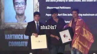 karthick naren receives award on his first movie   dhuruvangal pathinaaru   pride of tamil nadu