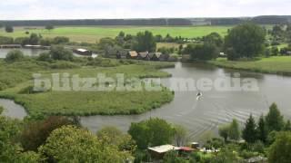 Stock Footage Europe Germany Lake Müritz Nature Röbel Mecklenburg Bootshaus Seenplatte Travel HD