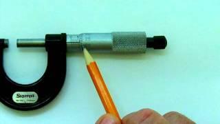 Reading a Metric Micrometer Caliper