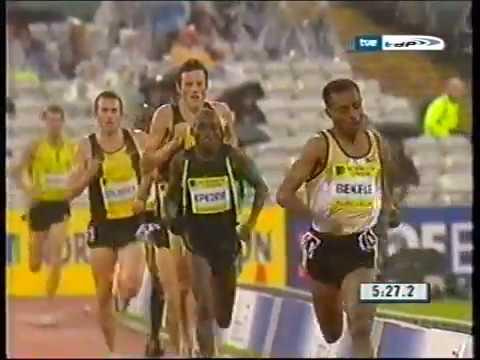 Bekele 3000 m 7 26 69 Sheffield 2007