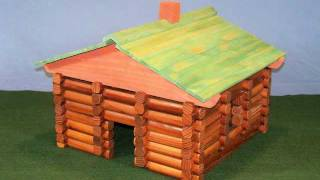 Make Your Own Log Cabin Building Set