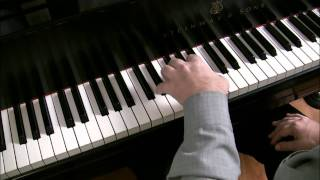 (1/3) How to play Maple Leaf Rag, left hand | Cory Hall, pianist-composer