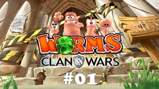 Worms Clan Wars #01 - Noob-Battle! | Let's Play Worms