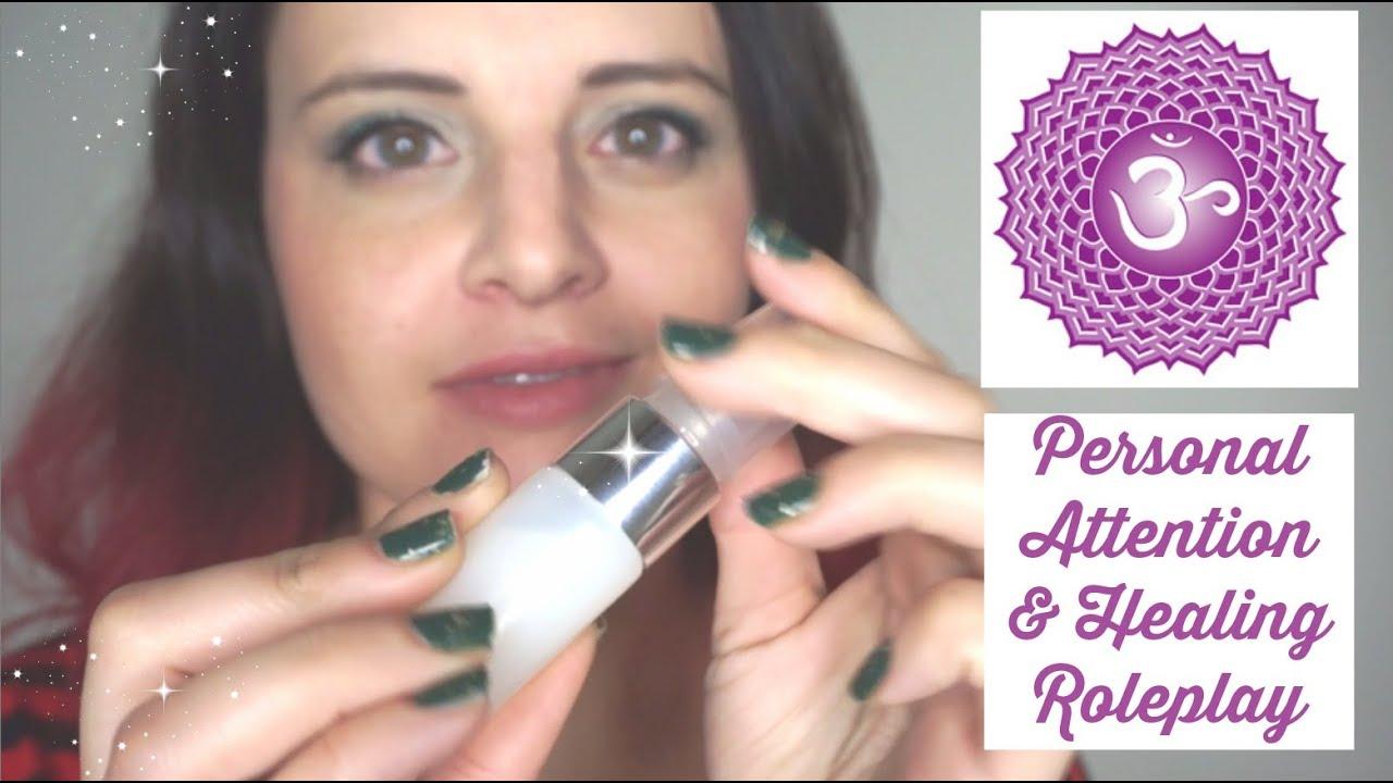Asmr Reiki Healing Balancing Your Crown Chakra Soft Spoken Roleplay With Head Massage