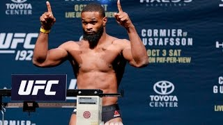 At ufc 192 weigh-ins, tyron woodley made weight, while his opponent could not and was forced out of the fight.subscribe: http://www./subscription_...