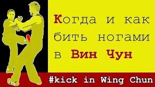 Когда и как бить ногами в Вин Чун | Wing Chun kick