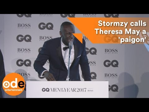 GQ Awards 2017: Stormzy calls Theresa May a