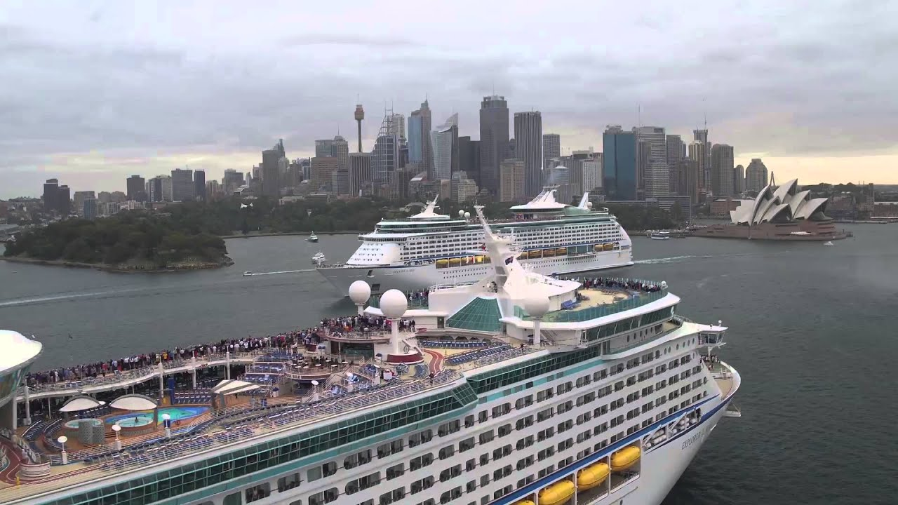 Royal Caribbean Giants Meet In Sydney Rendezvous  YouTube