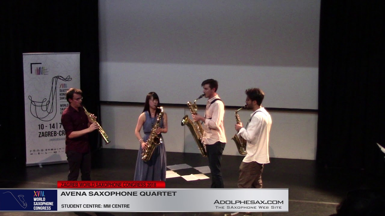 BIS    Avena Saxophone Quartet   XVIII World Sax Congress 2018 #adolphesax