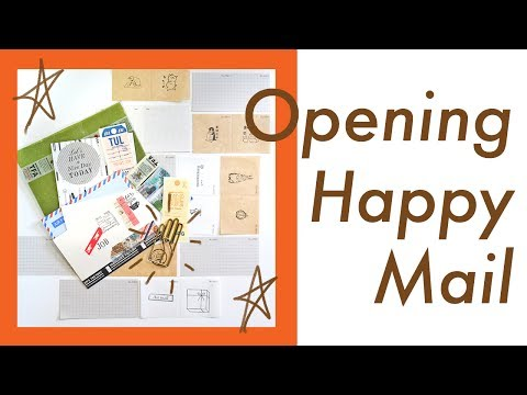 Opening Happy Mail (from Momolovespaper) | Job's Journal