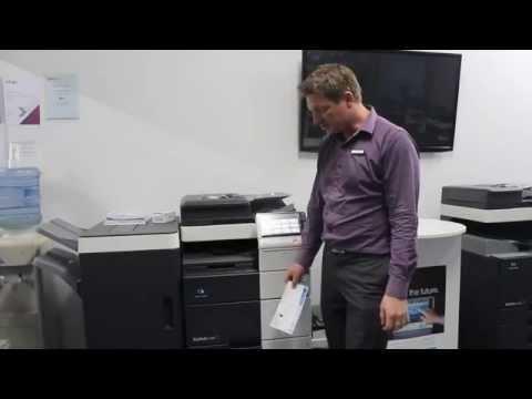 How to print envelopes on Konica Minolta bizhub