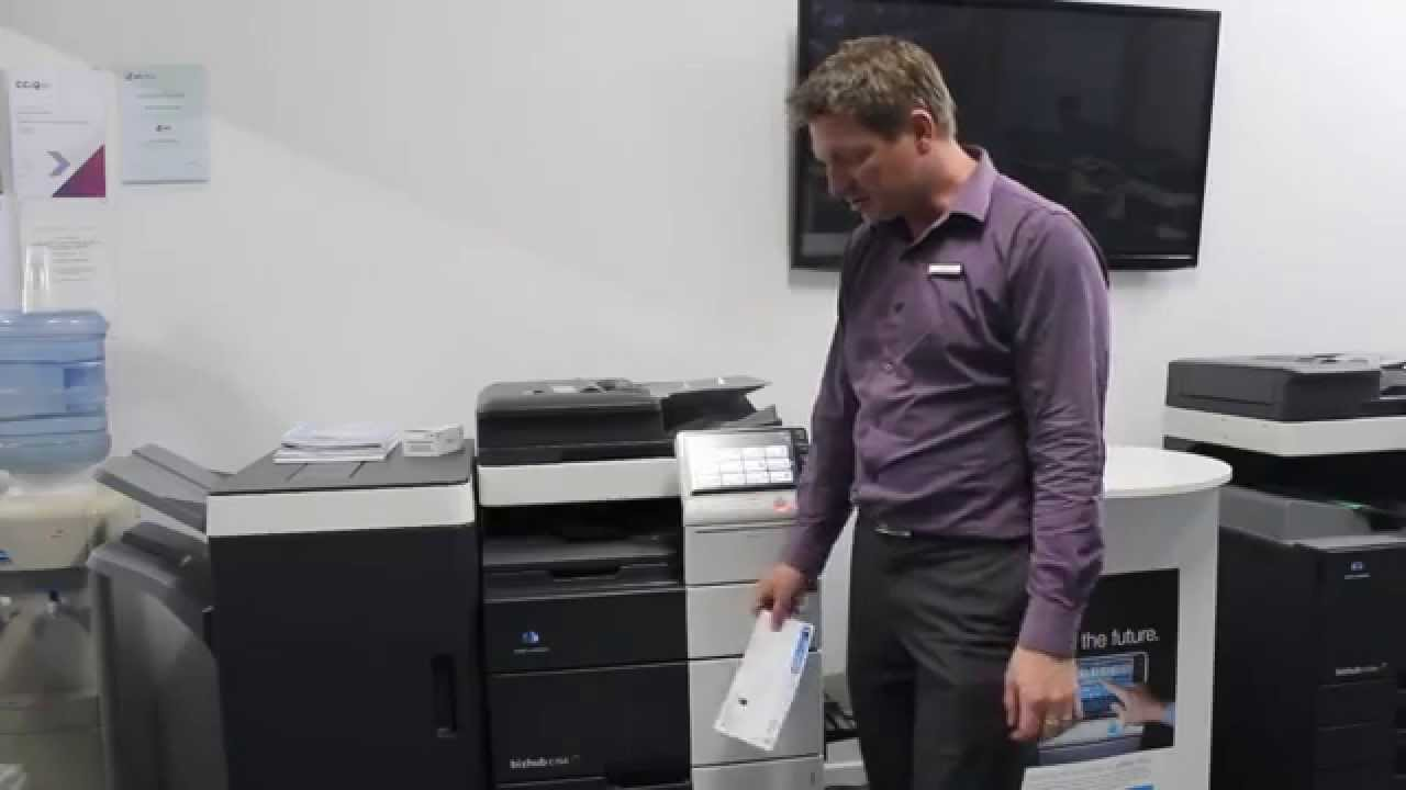How To Print Envelopes On Konica Minolta Bizhub Youtube