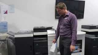 How to print envelopes on Konica Minolta bizhub