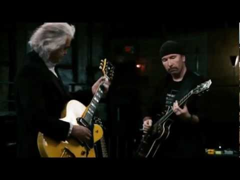 Jimmy Page, The Edge \u0026 Jack White -  In My Time Of Dying (It Might Get Loud)