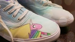 Lady rainicorn shoes - diy gg