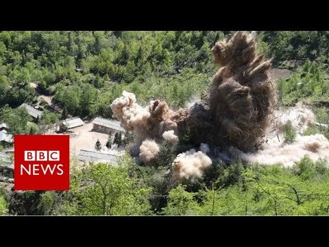 Video shows North Korea site 'destruction' - BBC News