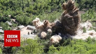 Video shows North Korea site 'destruction' - BBC News