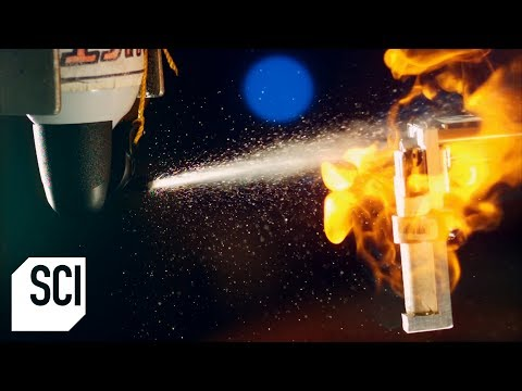 How Flammable is Compressed Air? | MythBusters Jr.