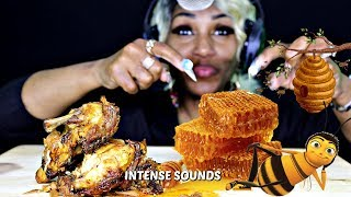 Baixar ASMR HONEYCOMB WITH CHICKEN & HOT SAUCE ⚠ EXTREME EATING