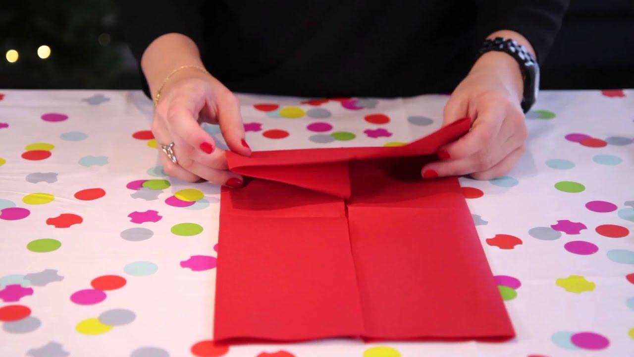 Diy no l pliage de serviette en forme de flocon youtube - Pliage de serviette en papier noel ...