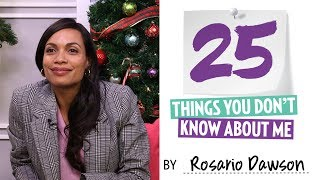 25 Things You Didn't Know About Rosario Dawson