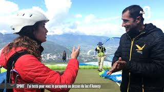 J'ai testé pour vous le parapente au dessus du lac d'Annecy