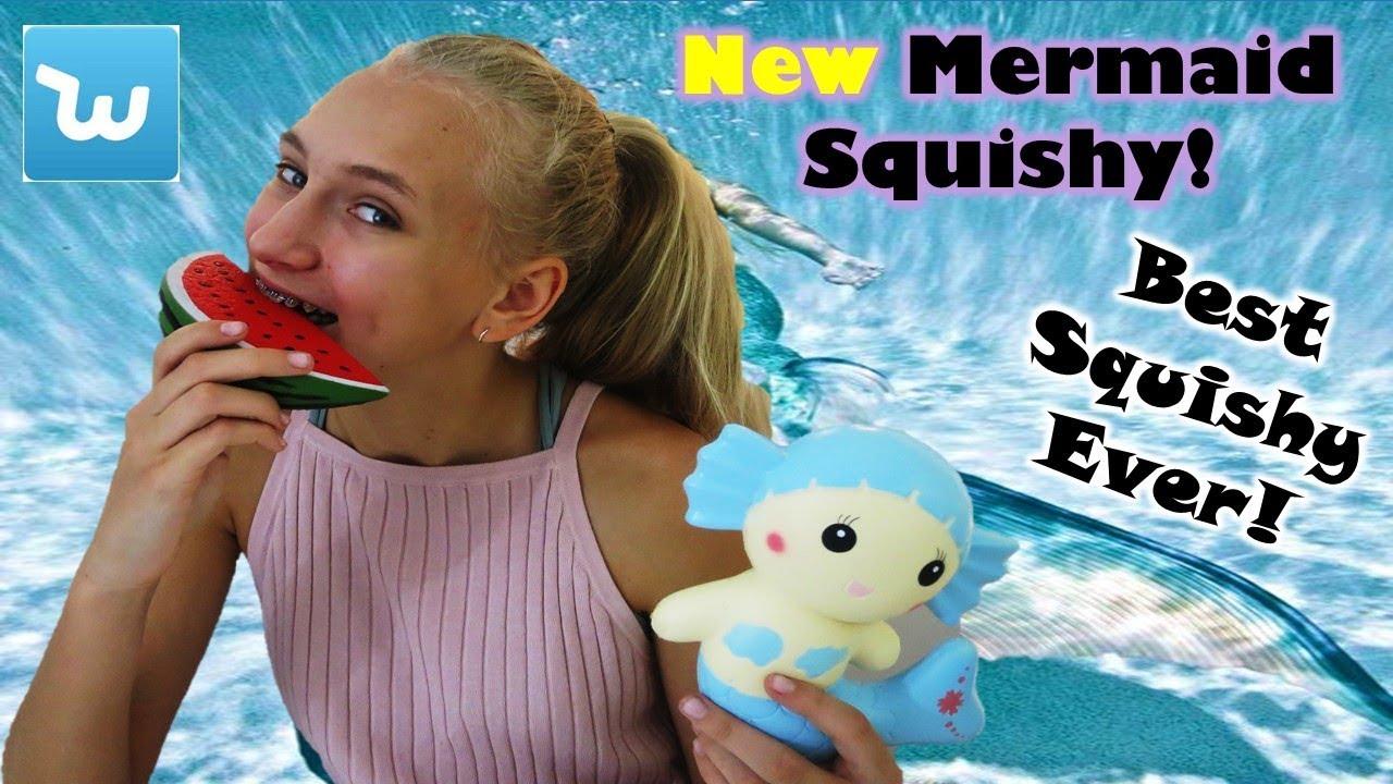 Squishy Wish : Amazing Mermaid squishy New Squishy Package from Wish.com & Amazon - YouTube