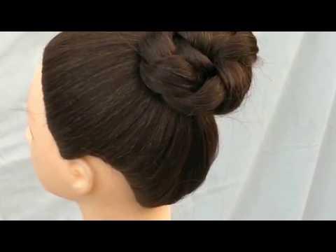 wedding-bun-hairstyle-||-summer-bun-hairstyle-||-long-hair-hairstyle-||-stylish-bun-hairstyle