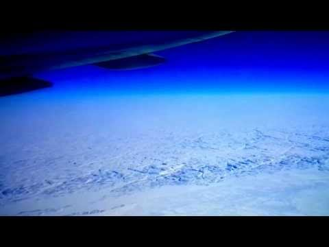 FROZEN Hudson Bay Canada on Air Canada from Toronto to Hong Kong