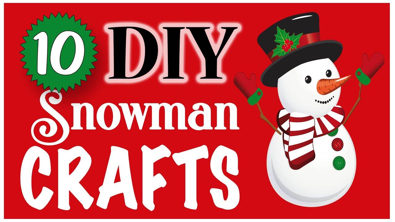 10 EASY Snowman Crafts! 🎄 CHRISTMAS DIY   Dollar Tree DIY