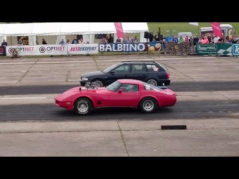 Chevrolet Corvette C3 496cid vs Audi A4 1.8T 20v B5 Quattro 1/4 mile drag race
